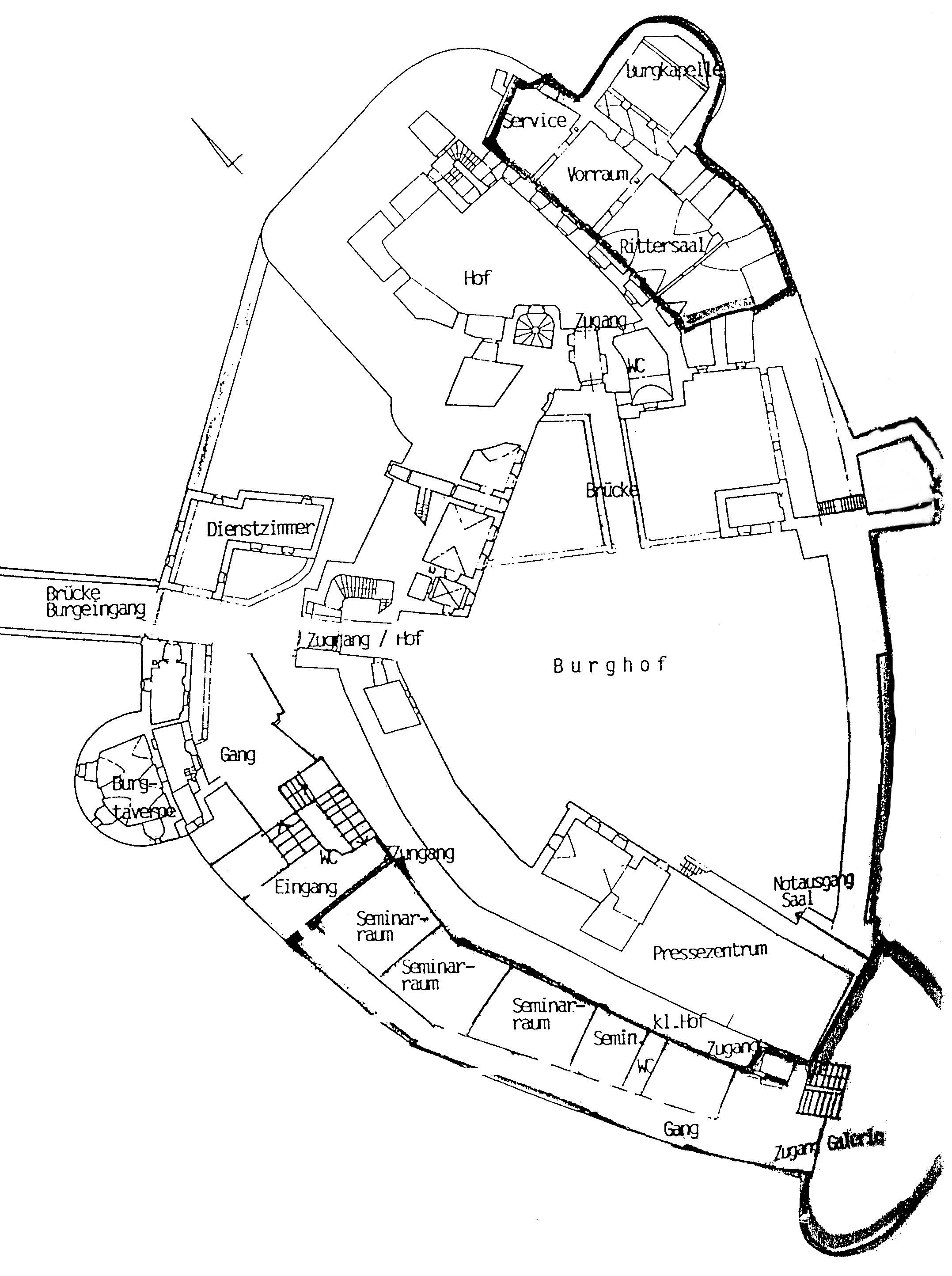 Lageplan Burg